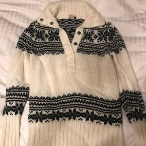 JCrew snowflake sweater